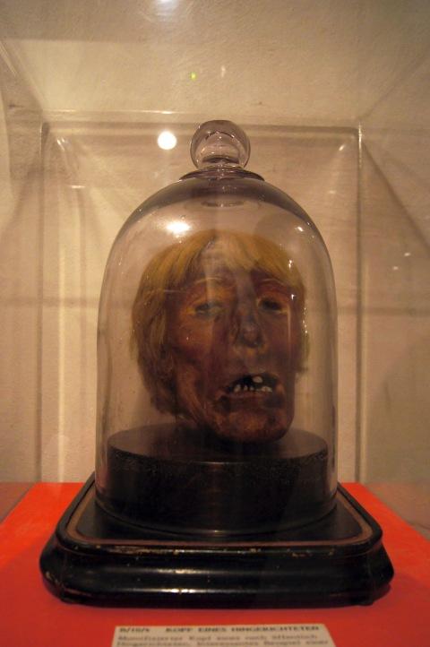 Kopf des hingerichteten Franz von Zahlheim