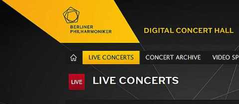 Berliner Philharmoniker Digital Concerthall